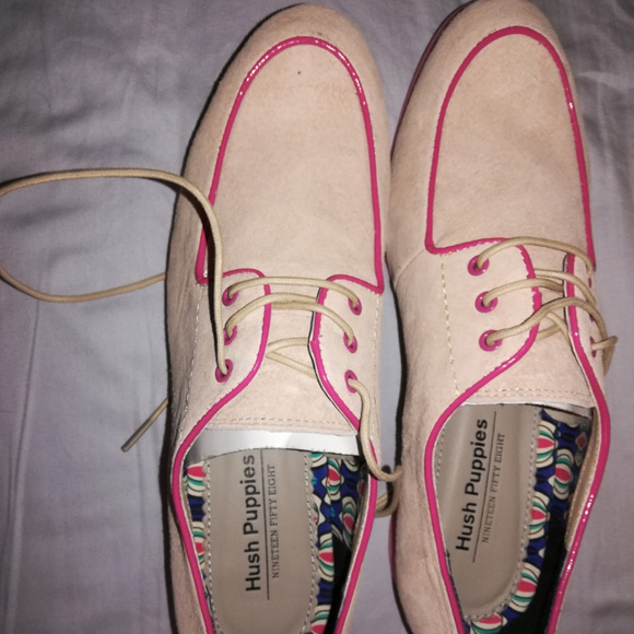 Hush Puppies Shoes - Hush Puppies Suede Oxfords (blush w/hot pink)